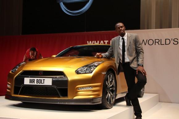 Usain Bolt i Nissan GT-R