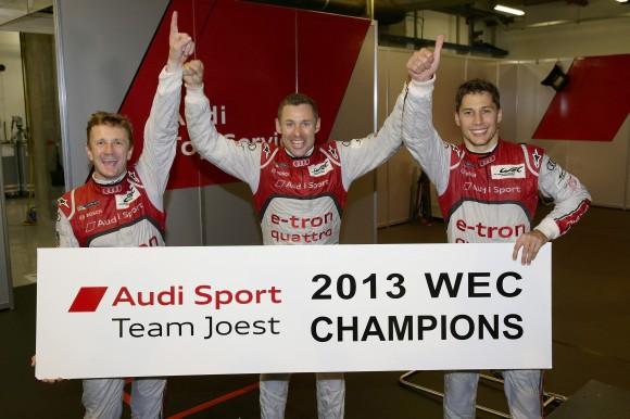 Sechster WEC-Saisonsieg fuer Audi und Fahrer-Weltmeistertitel in Shanghai